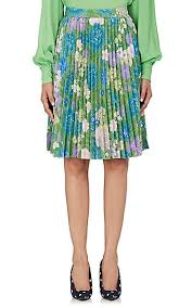 pleated skirts balenciaga floral crêpe de chine pleated skirt barneys new york
