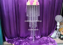 Purple Vases Cheap Crystal Beads Flower Vase Wedding Centerpieces Crystal Vases For