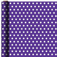 purple gift wrap jumbo purple polka dot gift wrap 16ft party city