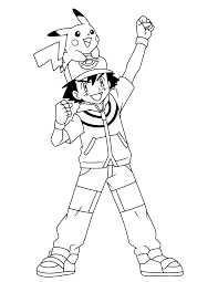 free coloring pages of your by ash in pokemon coloring pages ash