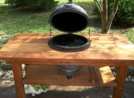 Bbq Tables Outdoor Furniture by Outdoor Wood Table With Built In Grill Storage Forever Redwood