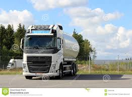 volvo truck group white volvo tank truck for food transport editorial stock photo