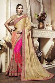 reception sarees for indian weddings golden sarees for reception buy online gold pink indian