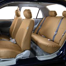 premium pu leather seat covers full set fh group