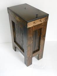 Wooden Kitchen Garbage Cans by Best 25 Wooden Trash Can Holder Ideas On Pinterest Rustic Trash
