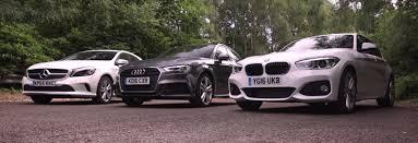 audi a3 vs mercedes a class audi a3 vs bmw 1 series vs mercedes a class test carwow