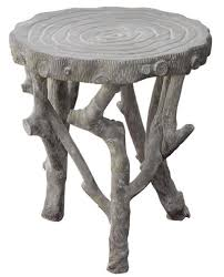 faux bois side table oly vincent grey faux bois side table furniture pinterest