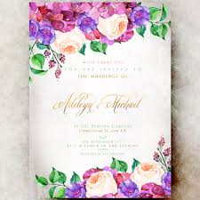 wedding invitations floral floral wedding invitation printable hydrangea wedding invitation