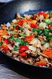 Turkey On The Table Ground Turkey Dinner With Peppers And Onions Five Silver Spoons