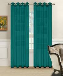 Sheer Teal Curtains Warm Home Designs 1 Pair Of Blue Teal Voile Sheer Window Curtains