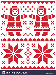 christmas vector card traditional knitted pattern illustration