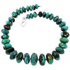 natural turquoise necklace images Natural beautiful chinese turquoise necklace at 1stdibs jpg