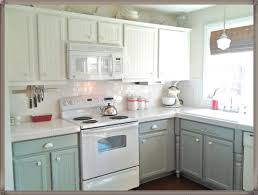 Painted Kitchen Floor Ideas Kitchen Room Contrast Two Tone Kitchen Cabinet With White Brown
