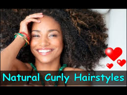 cute hairstyles for natural curly hair for black women youtube