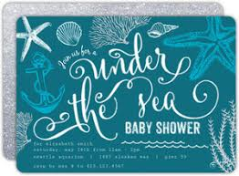 the sea baby shower invitations nautical baby shower invitations