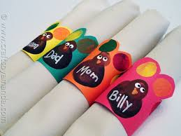 turkey napkin ring turkey napkin rings from fingerprints crafts by amanda