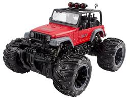 red toy jeep rc remote control jeep wrangler mud toy monster rc off road 4x4