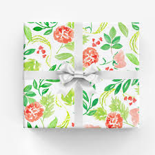 pineapple wrapping paper gwyneth gift wrap watercolor illustration and surface design