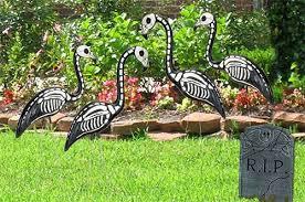 plastic black flamingo skeleton
