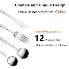 amazon com silverware set hxsnew stainless steel flatware set