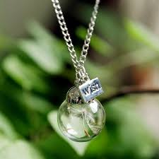 real crystal necklace images Wholesale hot sale real dandelion jewelry crystal glass ball jpg