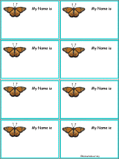 butterfly nametags at enchantedlearning com