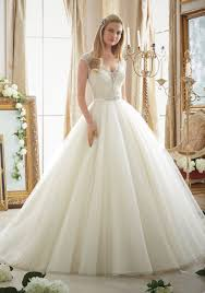 ballgown wedding dresses intricately beaded embroidery on tulle gown style 2875