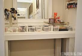 glass top vanity table diy glass top makeup vanity liz marie blog