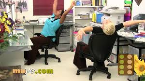 Office Chair Workout Office Stress Reducer Chair Exercise Loosen Up With Rachel And