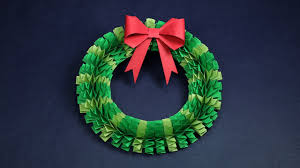 Homemade Christmas Wreaths by Diy Christmas Wreath How To Make Accordion Paper Folding Wreath