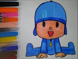 pocoyo coloring pages colouring book kids color