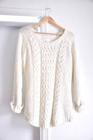 white sweater white batwing sleeve cable knit sweater sheinsheinside white
