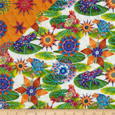 calypso sided quilted frogs discount designer fabric
