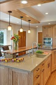 Contemporary Kitchen With Quartz Countertops And Red Birch - Birch kitchen cabinet
