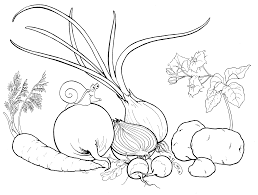 coloring page vegetables from the garden