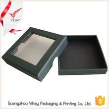 charming black luxury cardboard paper decorative see through gift