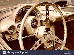 corvette dashboard steering wheel and dashboard of classic chevy chevrolet corvette
