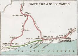 Sussex England Map by Hastings