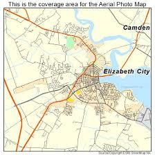 aerial photography map of elizabeth city nc carolina