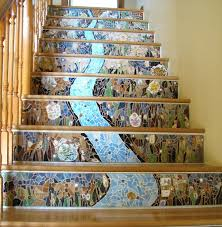 Goods Home Design Diy Gorgeous Mosaic Staircase Home Design Garden U0026 Architecture