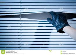 thief opening window blinds royalty free stock images image