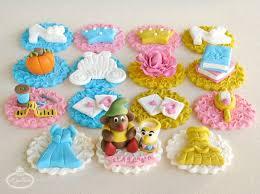 cinderella cupcake toppers upon a time princess fondant cupcake tutorial