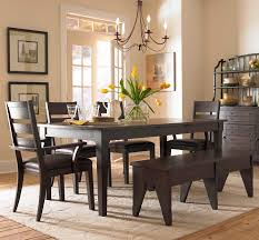 dining room set with bench entry way sofa table broyhill table