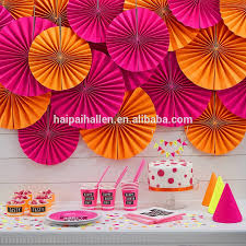 Diy 1st Birthday Centerpiece Ideas Diy Party Decorpink Paper Fan Backdrop Paper Rosette Kids Birthday