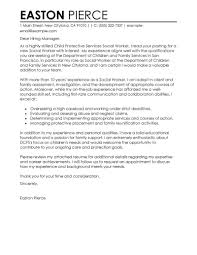 Examples Of Cover Letters For Resume by Best Social Services Cover Letter Examples Livecareer