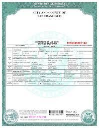 Novelty Birth Certificate Template san francisco birth certificate template templates