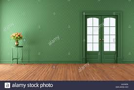 interior door vintage wall empty wallpaper nobody