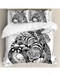 tattoo bedding queen memorial day s hottest sales on tiger king size duvet cover set