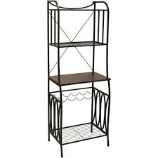 Bakers Rack Shelves Better Homes And Gardens Mixed Material Baker U0027s Rack Mahogany