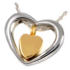 stainless steel heart necklace images Wholesale stainless steel brass cremation jewelry png